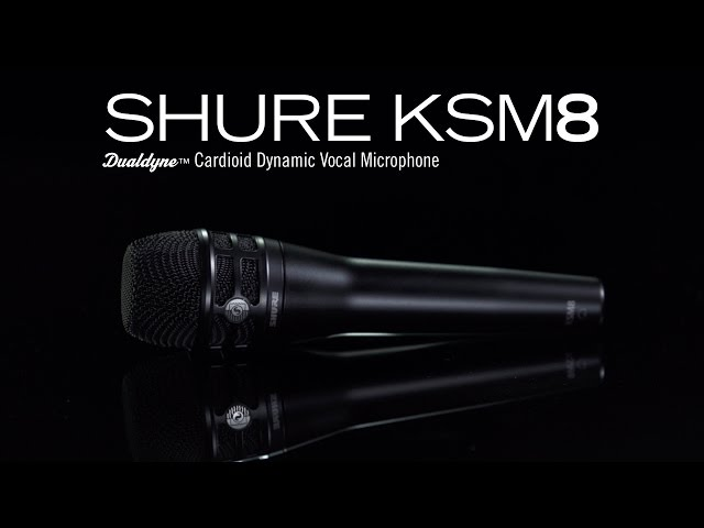 Shure KSM8 Dualdyne Microphone Product Video