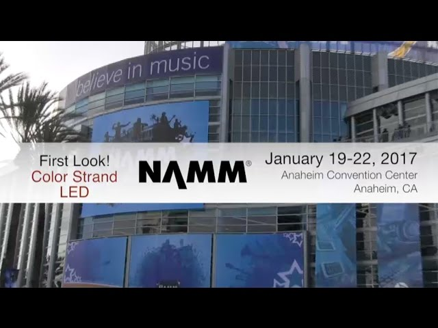 "ADJ Color Strand LED ""First Look"" at NAMM 2017"
