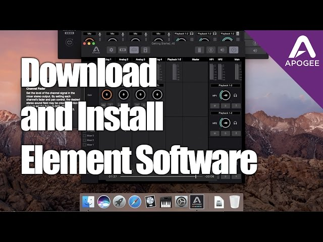 Element Software Install Tutorial