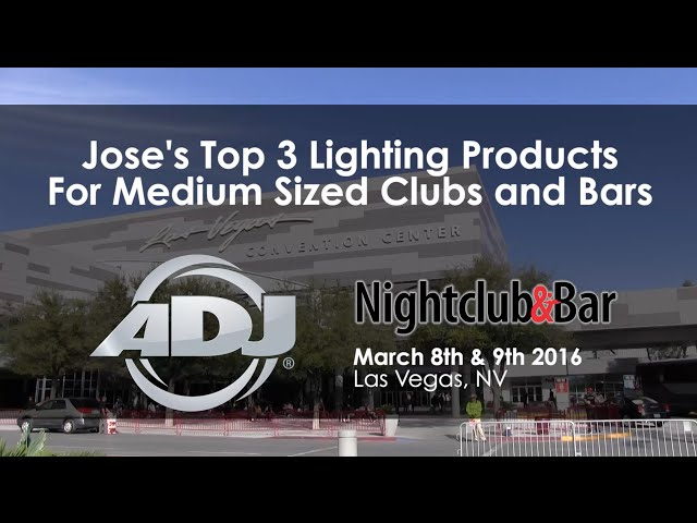 ADJ @ Nightclub & Bar - Top 3 Products for Medium Club Bar