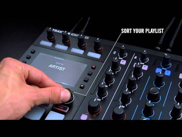 Mixing with TRAKTOR KONTROL S5: Track browsing