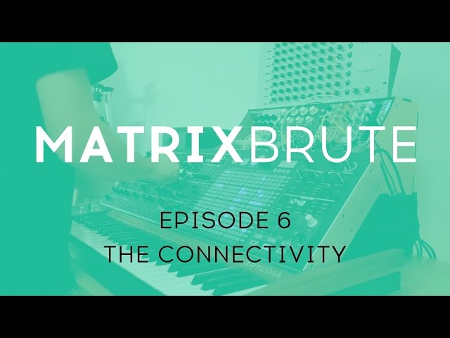 MatrixBrute Introduction Tutorial: Episode 6 - The Connectivity