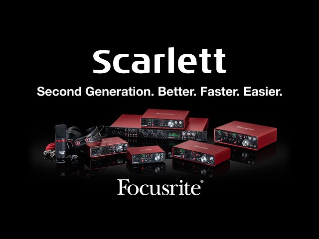 Focusrite // The New Second Generation Scarlett Range