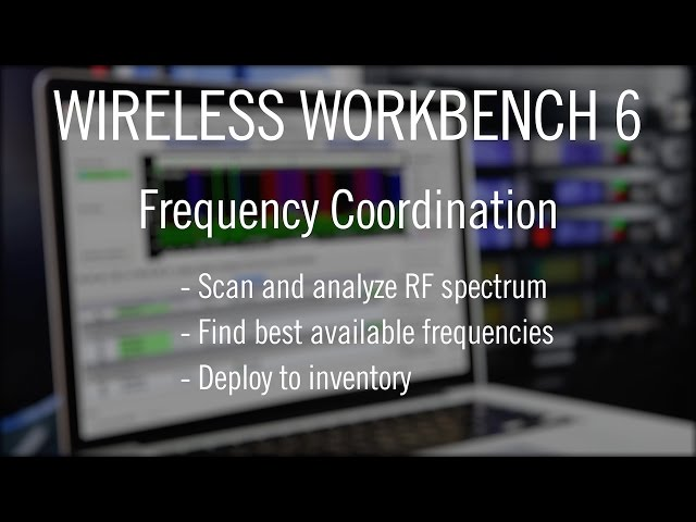 Shure Wireless Workbench 6 - Frequency Coordination Tab