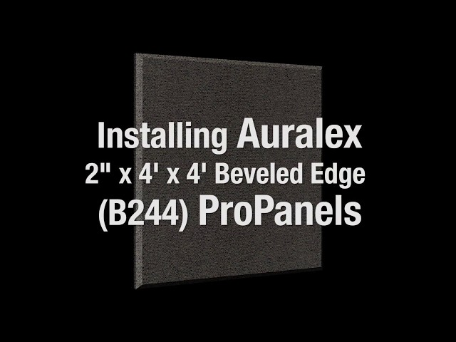 Installing Auralex ProPanel Acoustic Wall Panels