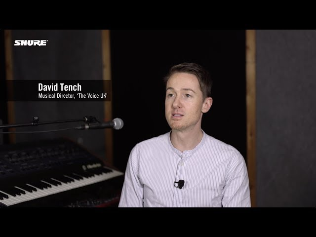 David Tench (MD, The Voice UK) & Shure KSE1500 Electrostatic Earphone System