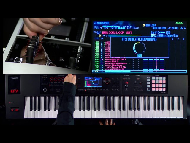 Roland FA-06/FA-07/FA-08 Music Workstation walk-through 5: Real-time effects tweaking