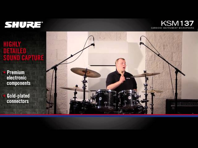 Shure KSM137 Instrument Microphone Product Overview