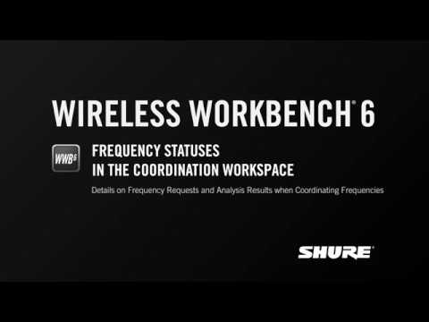 Shure WWB6: Frequency Statuses in the Coordination Workspace