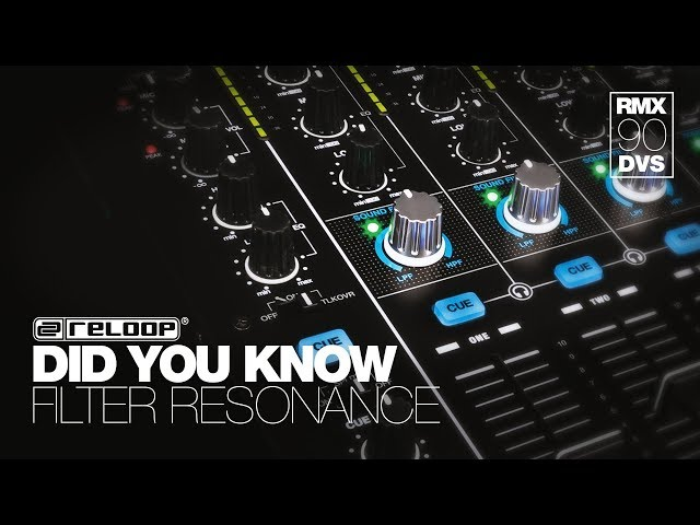 Reloop RMX-90 DVS DJ Club Mixer -  How To Adjust The Filter Resonance - Did You Know? (Tutorial)