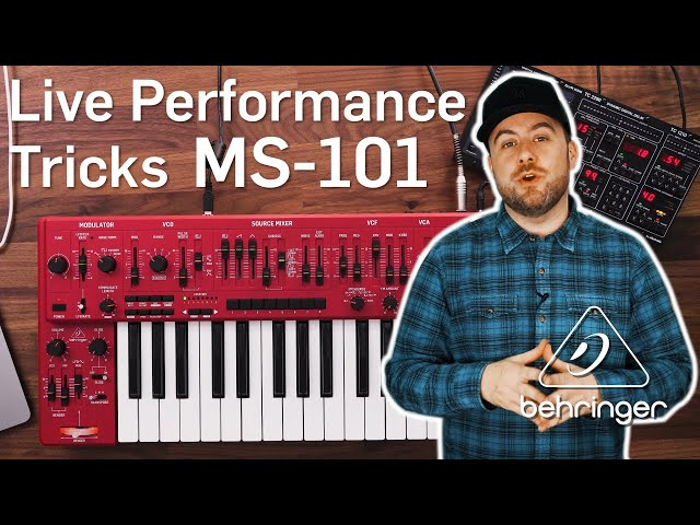 MS-101 Live Performance Tricks and the 'plastic' question?!