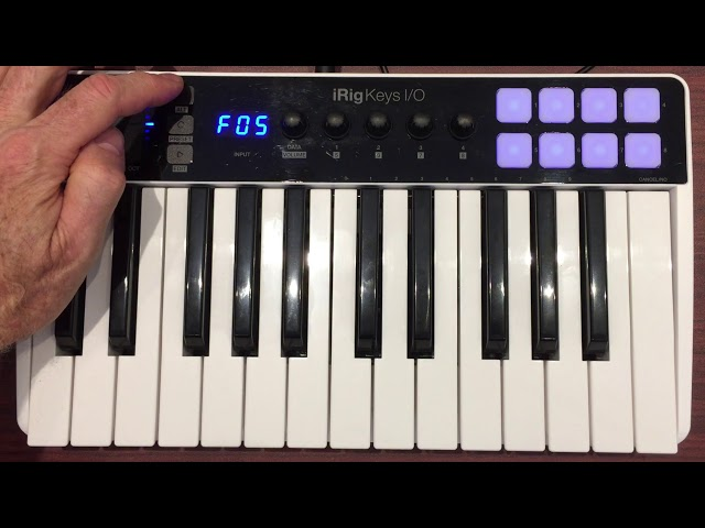 Controlling MainStage with iRig Keys I/O