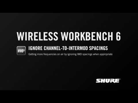 Shure WWB6: Ignore Channel-to-Intermod Spacings