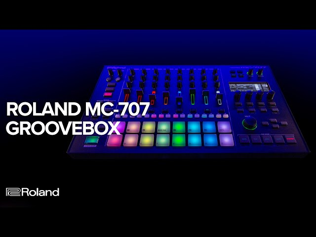Roland MC-707 GROOVEBOX for Live Electronic Music Producers and Production