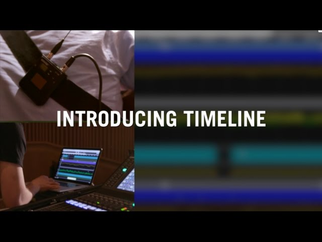 Preview of Timeline Feature in Shure Wireless Workbench® 6.12