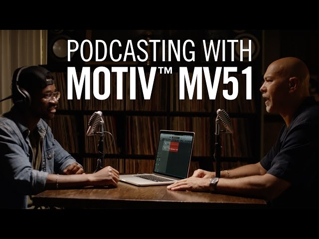 Podcasting with Shure MOTIV™ MV51 iOS and USB Microphone