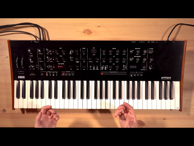 Korg Prologue Overview/Tutorial Part 6: Performance features – Arpeggiator, Splits, Layers