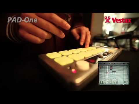 Vestax Pad-One MIDI controller Demo by finger drummer Teezva