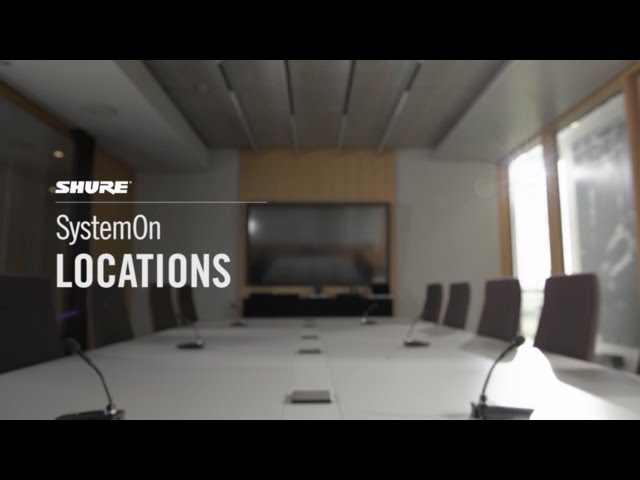 Shure SystemOn Training - 5. Locations