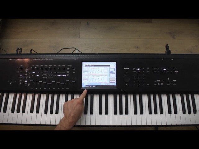 Korg Kronos Tutorial: Assign chords to the virtual pads