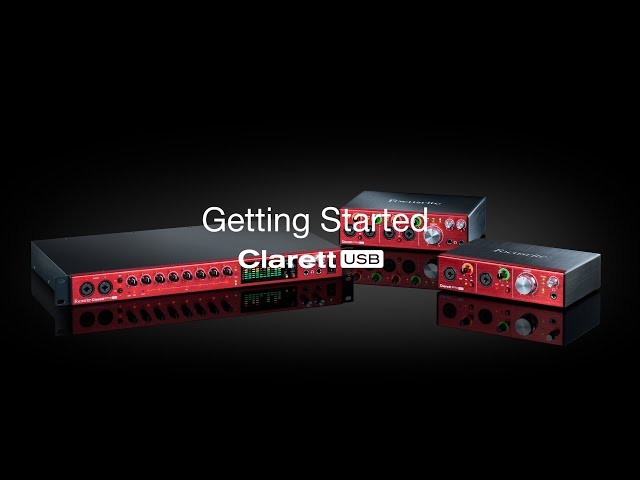 Focusrite // Clarett USB - Out of the box