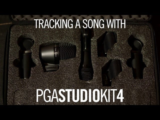 Tracking a song with the Shure PG ALTA PGAStudioKit4