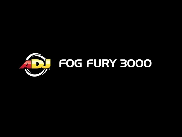 ADJ Fog Fury 3000 - Constant Output Operation