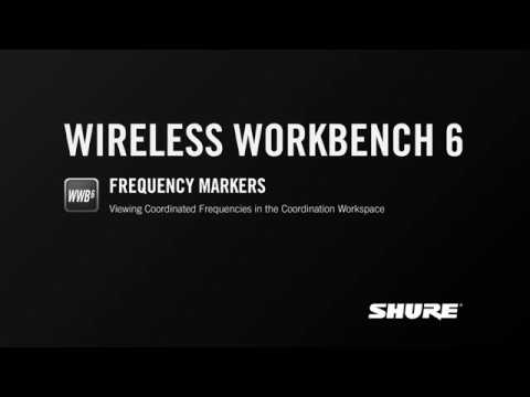 Shure Wireless Workbench 6: Frequency Markers