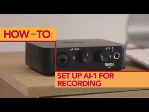 How to Record using Headphones with the RØDE AI-1