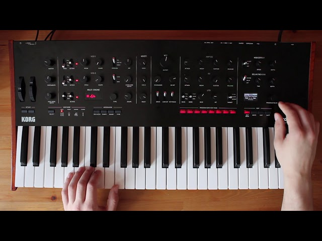 "Patch of the Week 19: ""Drive"" Soundtrack Style Bass/Lead Split on Korg prologue"