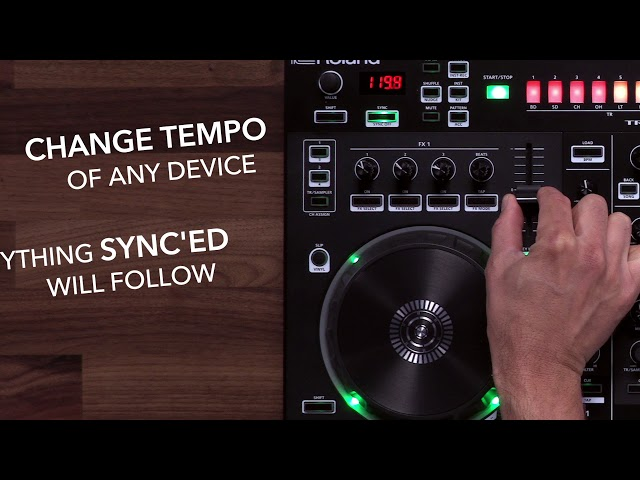 Roland DJ-505 - Sync TR-S Sequencer to Serato