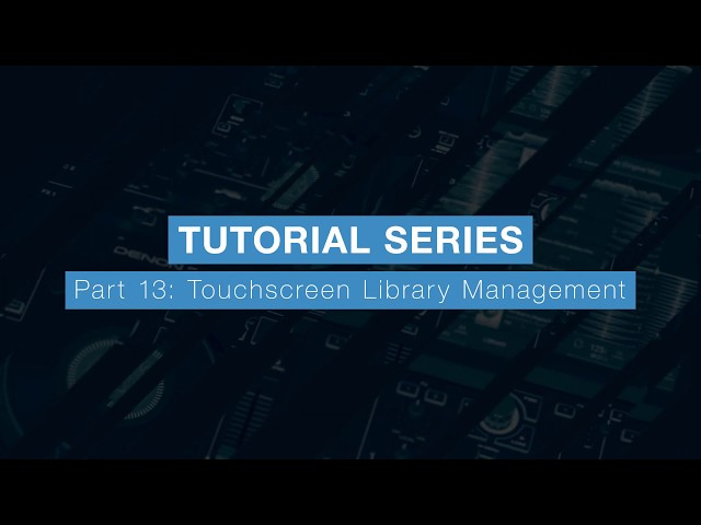 Denon DJ Prime 4 Tutorial Part Thirteen - Touchscreen Library Management