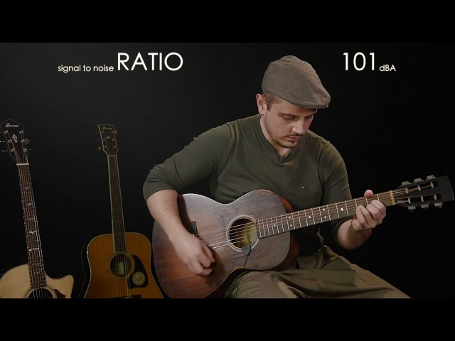 iRig Acoustic Stage on Parlor Acoustic Guitar - Daniele Gregolin