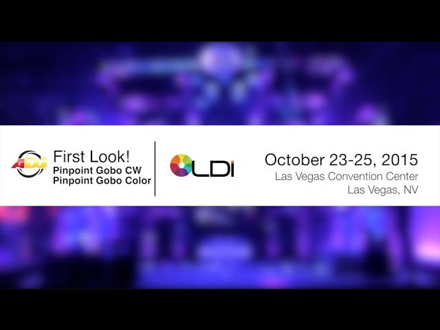 First Look - ADJ Pinpoint Gobo Color and Pinpoint Gobo CW