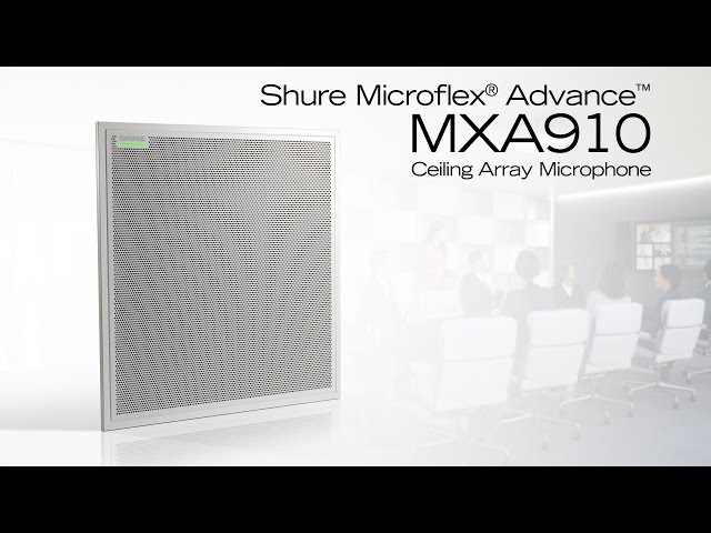 Shure Microflex Advance MXA910 Ceiling Array Product Overview