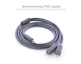 Ugreen 3.5mm mini Stereo Jack - 2 RCA Cable, 1,5 метра по цене 500 руб.
