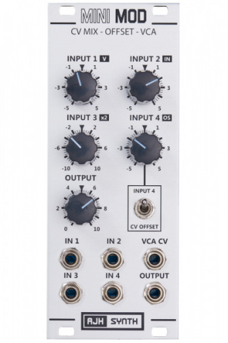 AJH Synth MiniMod CV Mix-Offset-VCA silver по цене 13 510 руб.